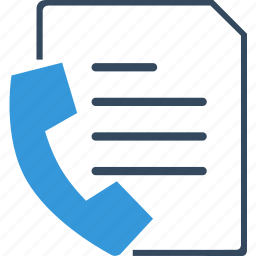 fax, number, paper, phone, sheet, tel, telephone icon