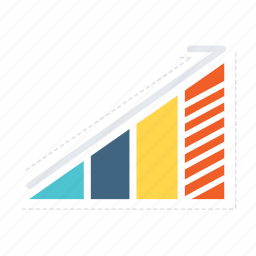 analytics, arrows, business, chart, growth, report, stats icon