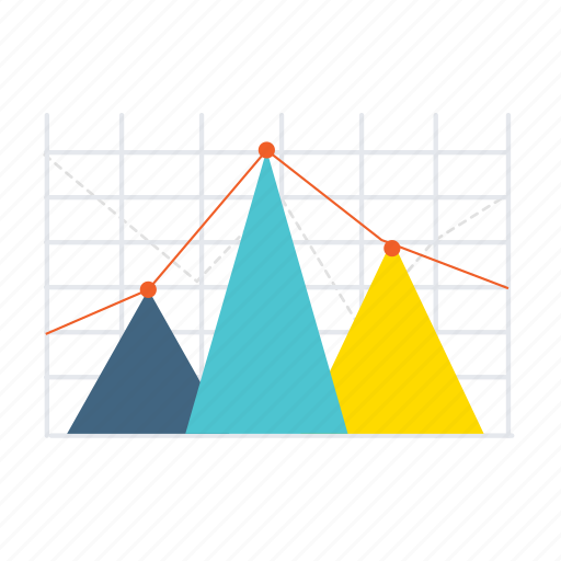arrows, business, chart, diagram, report, statistics, triangle icon