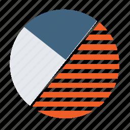 analytics, chart, circle, graph, pie chart, report icon