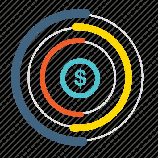 analytics, chart, diagram, graph, money, pie chart, report icon