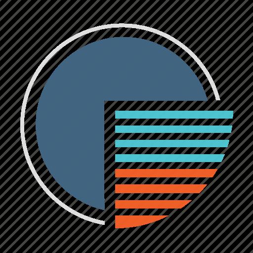 analytics, chart, circle, exam, pie, pie chart, report icon