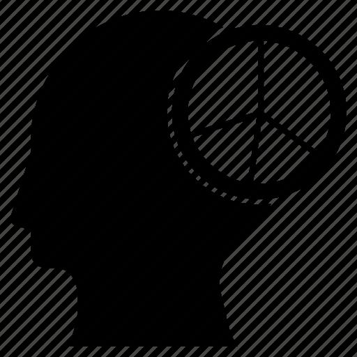 chart, graph, head, mind, statistics icon