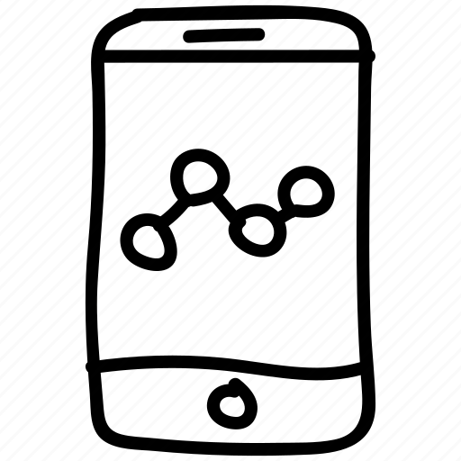 analytics, device, growth, mobile, phone icon