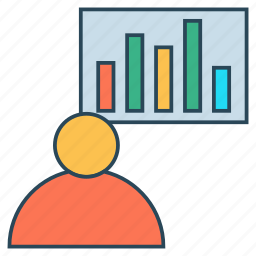analytic, chart, graph, presentation, statistics icon