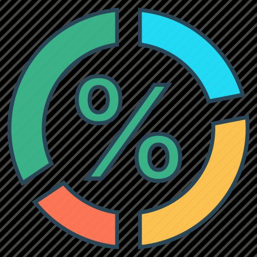 chart, graph, mathematics, percentage, statistics icon