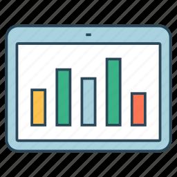 analytics, chart, device, graph, statistics icon