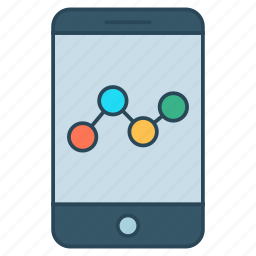 analytics, device, growth, mobile, phone icon