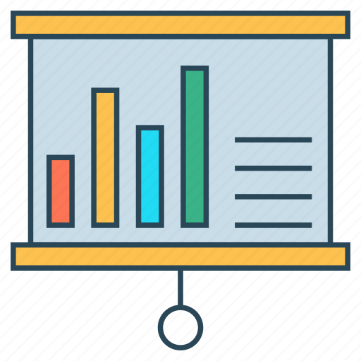board, chart, graph, presentation, statistics icon