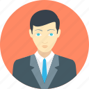 avatar, bussinessman, male, man, office, person, profile icon