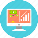 diagram, graph, growth, increase, pc, progress, statistics icon