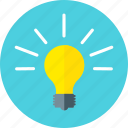 bulb, creative, electricity, energy, idea, light, power icon