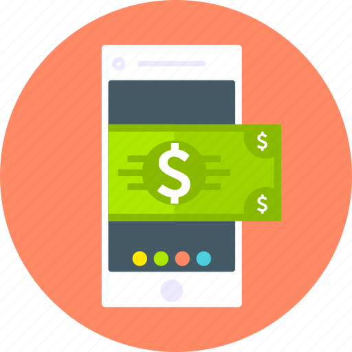 card, dollar, finance, method, mobile phone, money, payment icon
