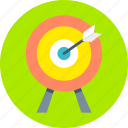 aim, center, dart, focus, goal, marketing, target icon