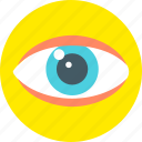 examine, eye, look, observe, search, see, vision icon