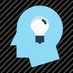 change, improvement, innovation, light bulb, process, productivity, thinking icon