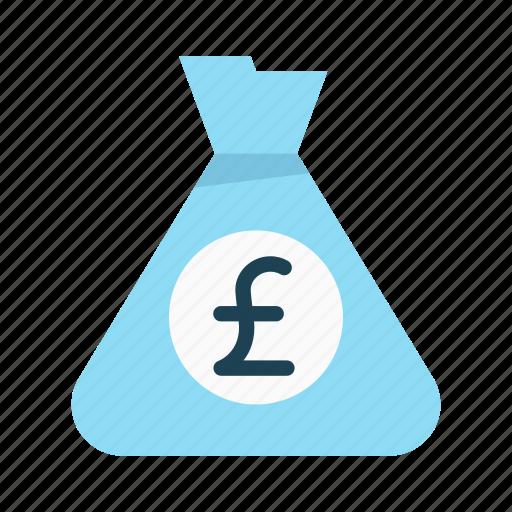 bank, budget, finance, interest, investment, money bag, pound icon