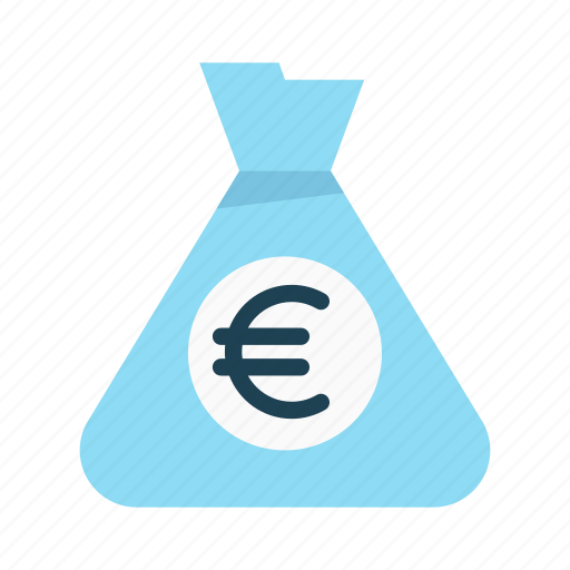 bag, budget, euro, finance, interest, investment, money icon