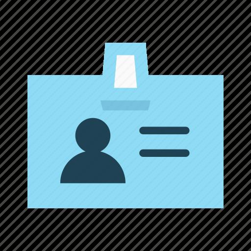 badge, id, identification, identity, personal, profile, user icon