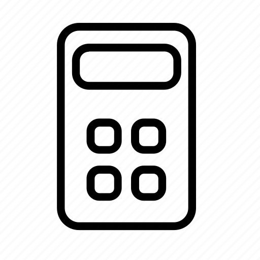 calculate, calculator, machine, math icon