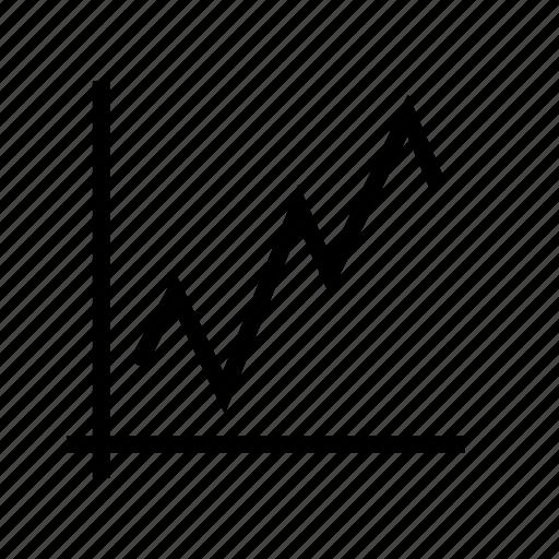 chart, diagram, improve, stock, table icon