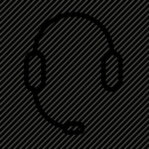 call, center, customer, headphone, mic, service icon