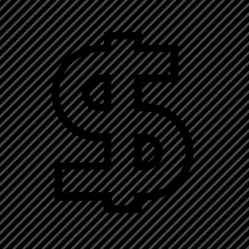 american, dollar, fees, money, sign icon