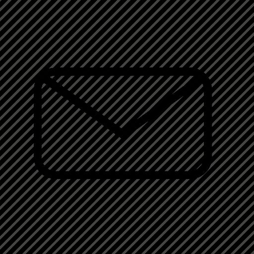 email, letter, message, send, unread icon