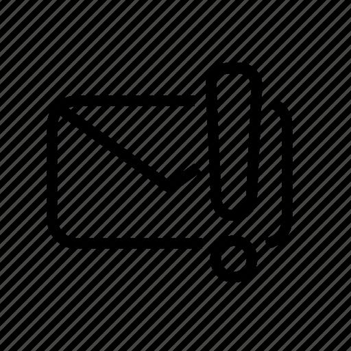 alert, email, important, message, unread, urgent icon