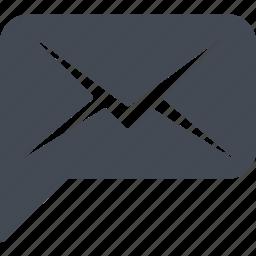 business comunications, communication, correspondence, email, envelope icon