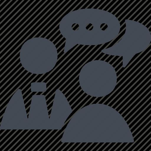 business comunications, chat, communication, conversation, speech, talk icon