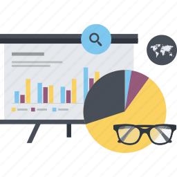analysis, business, conceptual, flat design, plan, statistics, strategy icon