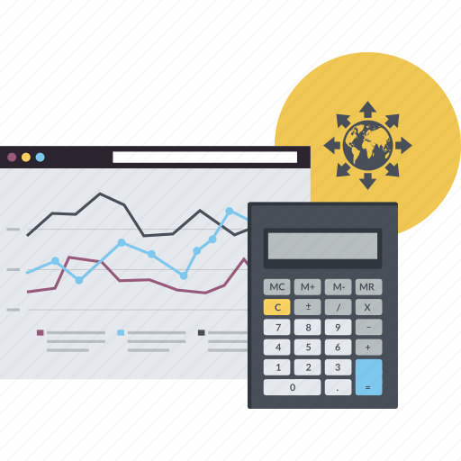 analytics, business, calculation, conceptual, flat design, internet, market research icon