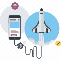 app, conceptual, development, flat design, internet, mobile, website icon