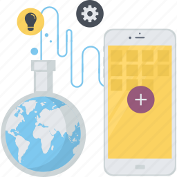 app, coding, conceptual, development, flat design, interface, mobile icon
