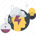 brainstorm, conceptual, creativity, development, flat design, idea, innovation icon