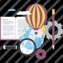 conceptual, development, discover, explore, innovation, knowledge icon