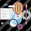 conceptual, development, discover, explore, flat design, innovation, knowledge icon