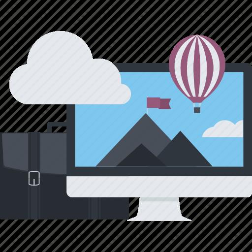 advanced, business, concept, discover, explore, flat design, innovation icon
