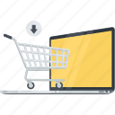 cart, conceptual, e-commerce, flat design, online, sale, shopping icon
