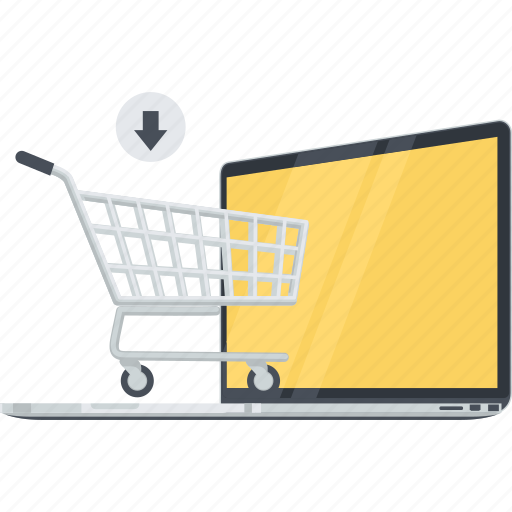 cart, conceptual, e-commerce, flat design, online, sale, shopping icon