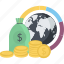banking, business, conceptual, finance, flat design, investment, money icon