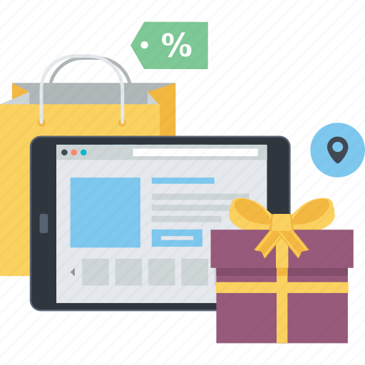 concept, m-commerce, mobile, online, sale, shopping icon