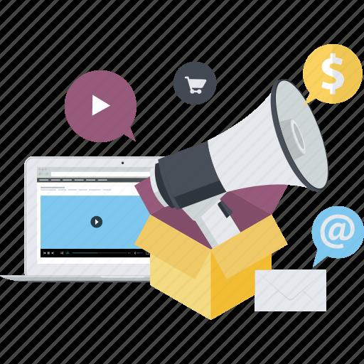 advertising, conceptual, digital, internet, marketing, social media icon