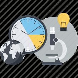 business, conceptual, development, flat design, idea, marketing, research icon