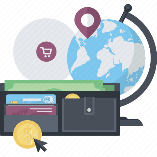 conceptual, internet, methods, online, payment, shopping icon