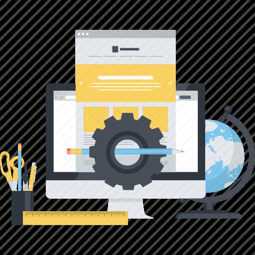 coding, design, development, flat design, programming, seo, web icon