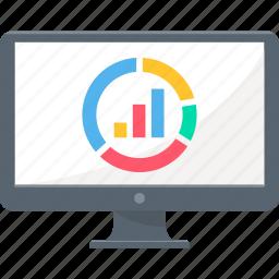 analysis, analytics, business, chart, computer, diagram, presentation icon