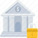 bank, court, finance, financial institution, locker, stock market, treasury icon