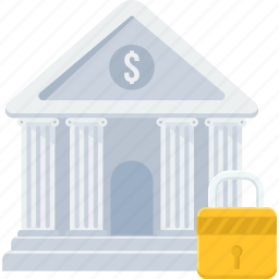 bank, court, finance, financial institution, locker, stock market, treasury icon